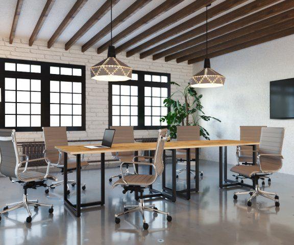 Преимущества глянцевой офисной мебели